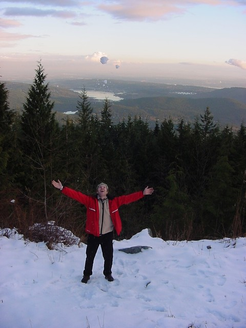 And on Mount Seymour there was some last snow... The first Canadian snow I touched in my life and I loved it.