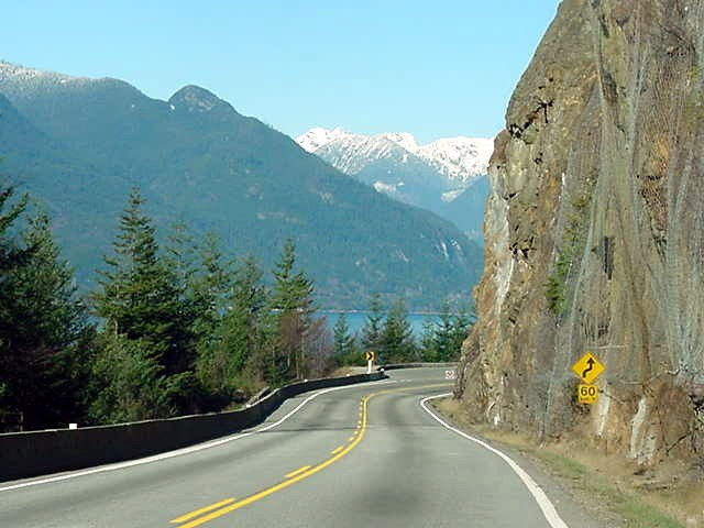 On the road to Squamish, where the scenery only got better...