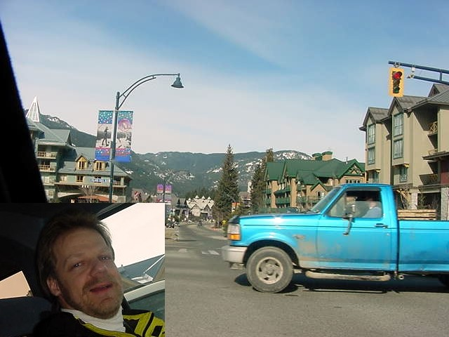 I arrived in artificial Whistler Villager, where my host Joern Rohde picked me up.