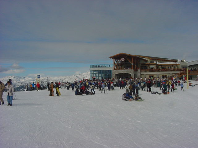 One of the restaurants on top of the mountain.