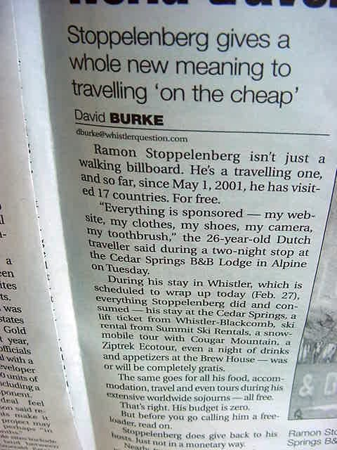 - And if you think he is a freeloader, read on...    Great words by David Burke!