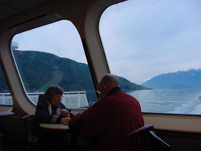 And passing the Gulf Islands that are spread around here.