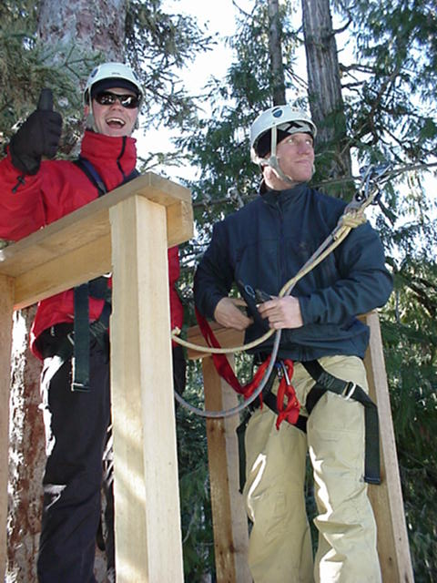 Extra photos: Ramon gets ready for a launch on the Ziptrek lines.
