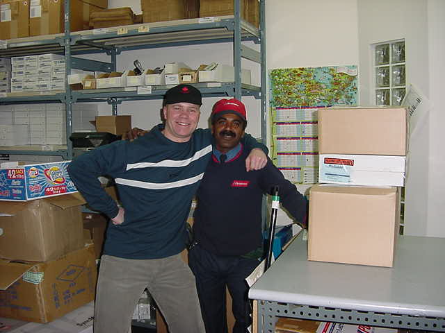 Phillip is the office mail man and Darren had told him lots about me. Phillip really wanted to get on a photo with me! Good man!