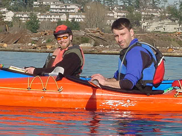 Darren and our kayaking guide for today also enjoy the great weather.