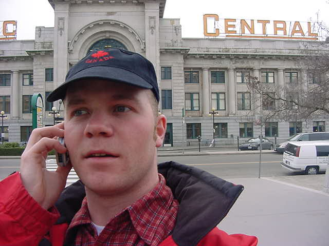 Back in Vancouver at the Pacific Central train station, I called my last hostess in Vancouver.