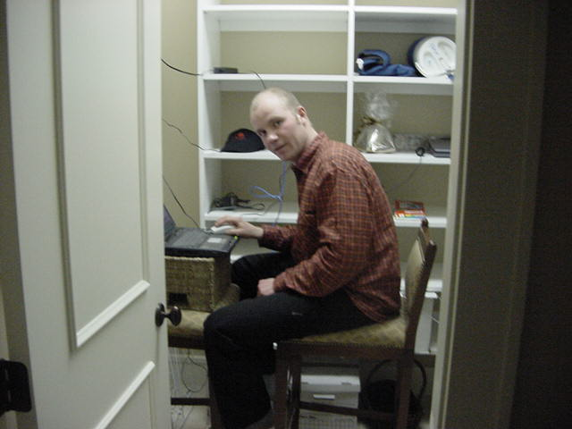 And where did I do my nightly work? Right, in the basement closet as the office was not ready yet.
