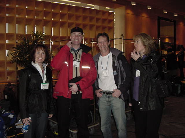 My next host is Steven Hill, standing right of me. He is a dentist and was visiting the dental convention in Vancouver today, surrounded by his charming assistents!