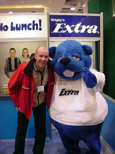Wooha! I am on the photo with the Wrigley Bear!
