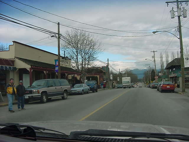 Downtown in Fort Langley the town really looks very historical.