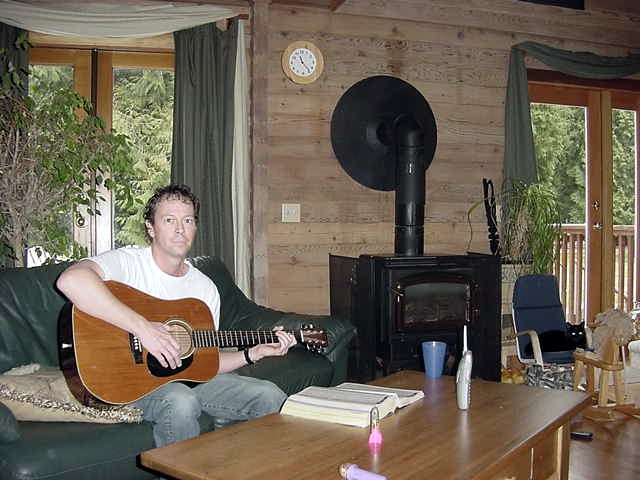 How is that for a wake up? This morning I found Steven playing John Lennon songs on his guitar!