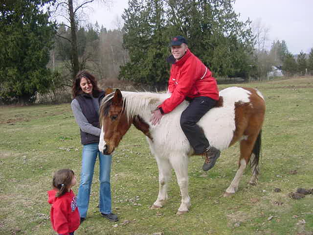 Oh gosh! And before I knew I was sitting on the other one! Canadian country life has started!