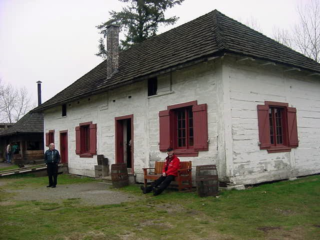 Outside one of the oldest houses in British Columbia...