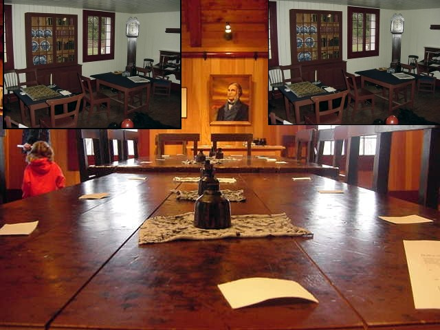 It was in this room when the proclamation was spoken bij Governer James Douglas. British Columbia was from then on a crown colony and could not become a part of the USA.