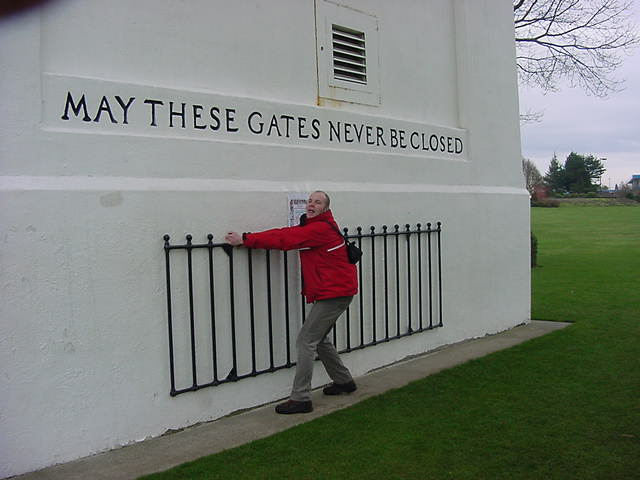 Some American officials did not have any humour when I tried to close the gates...