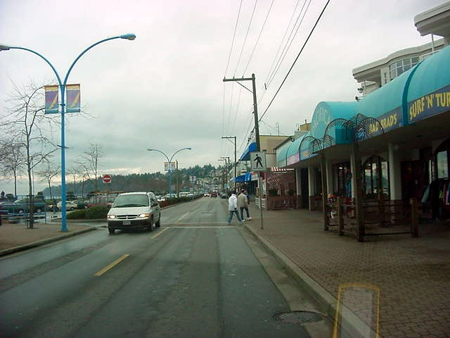 The boulevard along the beach in White Rock (Canada).