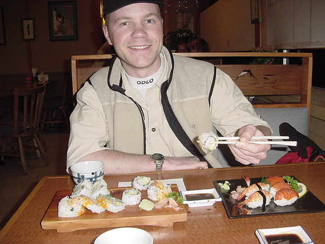 This smile truly exaggerates that I LOVE sushi!