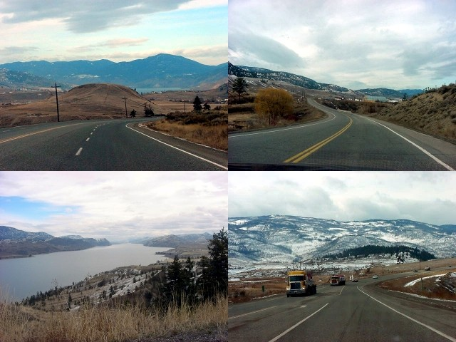 was very happy that Ruth took me along for this morning drive and we drive along the long Kamloops lake, through the jagged brown valleys towards the small highway junction with a few houses which they seem to call Cache Creek here.