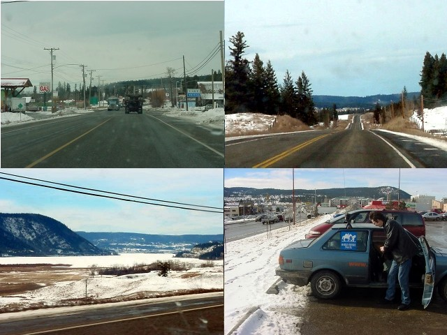 Along this highway every town seems to look the same. In Williams Lake Thomas Schoen picked me up at the mall.