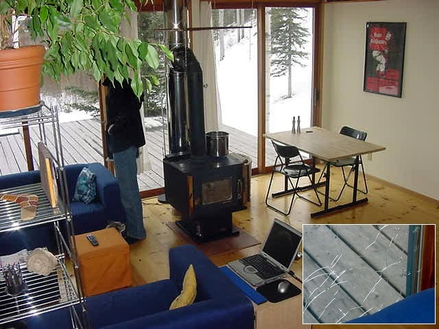 The IKEA like living room. It once was -43 degrees outside and when you keep it warms inside, the windows might still crack...