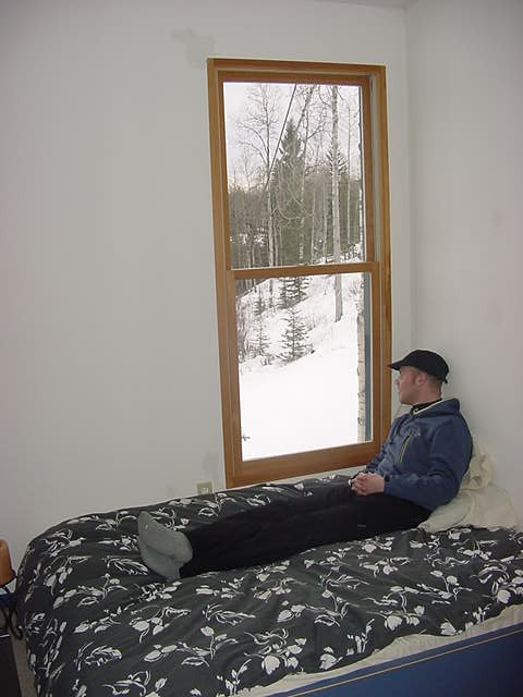Me in the guest bed room on the first floor. What a view!
