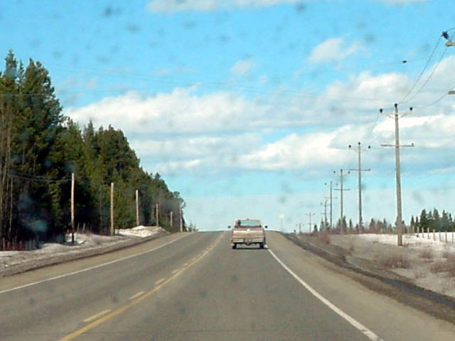Driving up to Prince George: open the windows and enjoy the music!