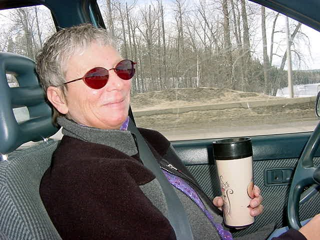 In Prince George Karen Rutherford picked me up at the local superstore, where I was dropped off.