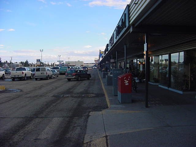 The Prince George commercial strip.
