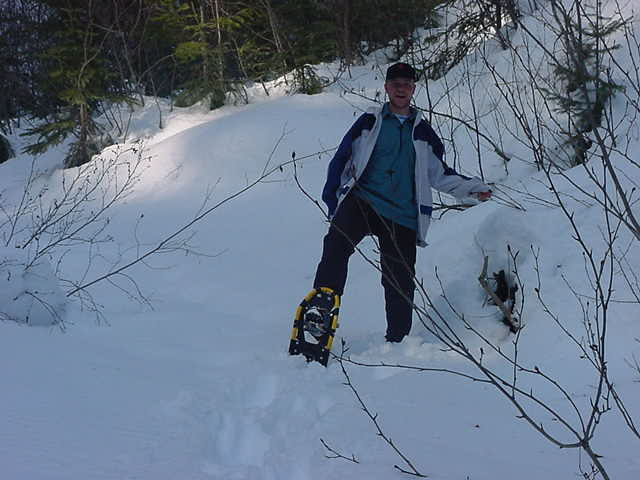 Hey, snowshoeing is pretty funny!