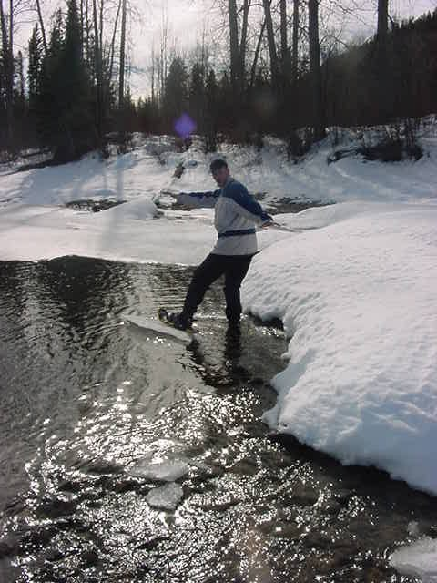 I just invented a new sport: ice surfing! Just do not try this at home, ice cubes might be too small....