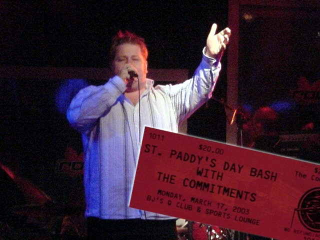 Jane took me along to the concert of THE COMMITMENTS in Grande Prairie and she paid the tickets!