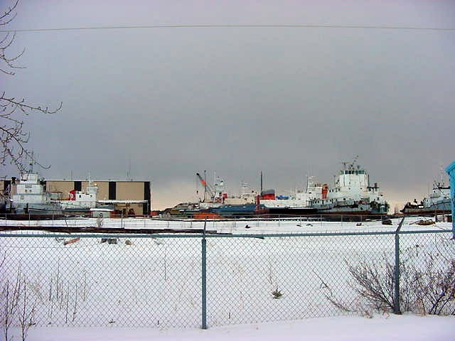 At the port of Hay River you can ship your goods to communities around the north pole. In the summer times I mean...