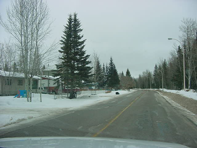 On the road again and leaving Hay River.