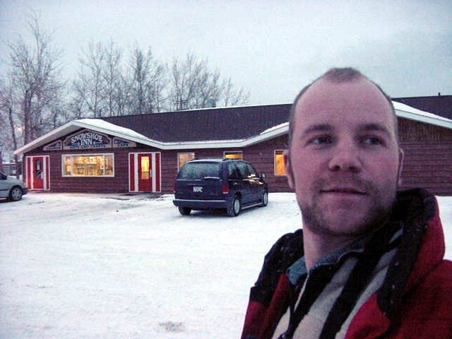 Steff told me I could have some dinner at the Snow Shoe Inn restaurant across the street of the motel.