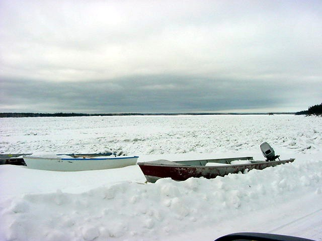 The Mackenzie river is apparently frozen...