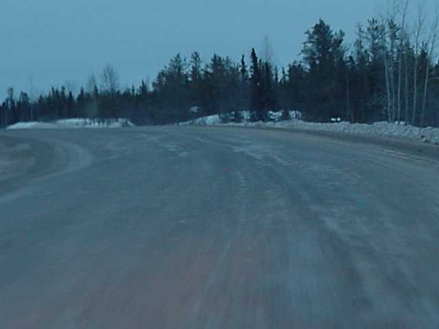 The road conditions to Yellowknife are not that good. It has been made, but the repairs take very long...