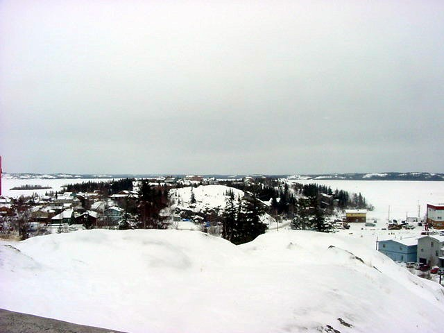 A look at the Old Town of Yellowknife, based on this former island.