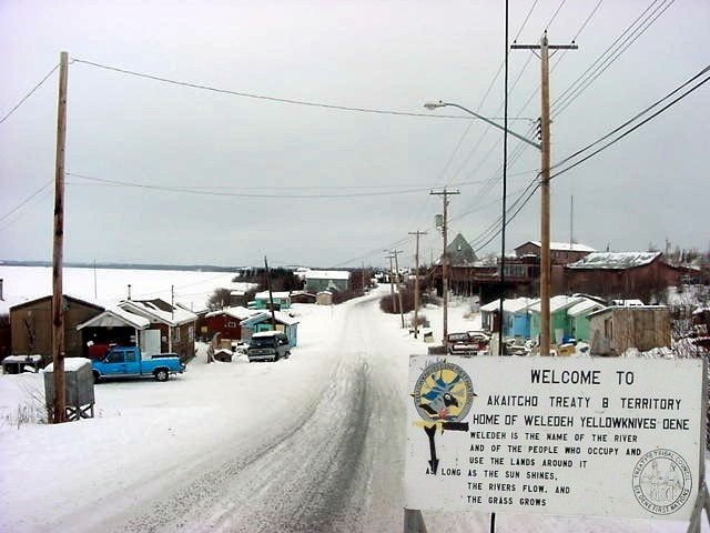 The old town of Yellowknife is mostly inhabited by the Dene people.