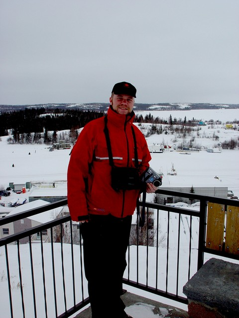 Jeff took this photo on The Rock, the top of Latham Island in Old Town Yellowknife.