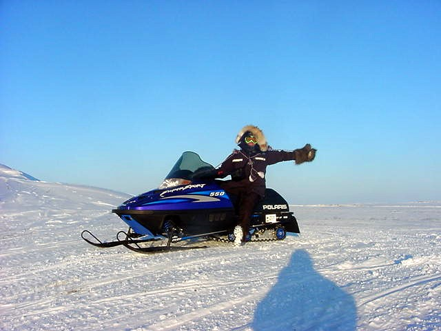 Out of town for a skidoo tour along the frozen Coppermine River. IT WAS COLD!!!