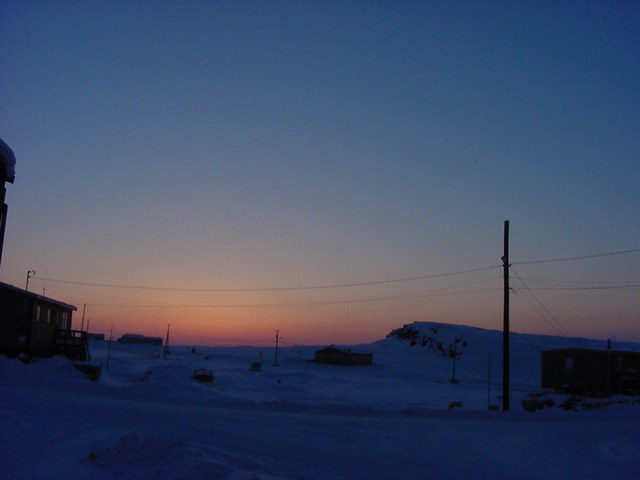 At around 8pm the sun finally goes down... It seems to be getting lighter longer every day, said Becky.