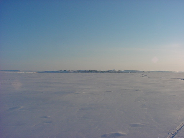 But I went for a skidoo tour on the Arctic Ocean north of Kugluktuk.
