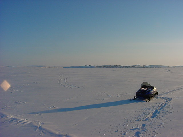 Kugluktuk as seen from the ice...