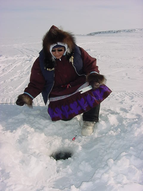 I joined the Inuit family again today. Today they were going ice fishing.