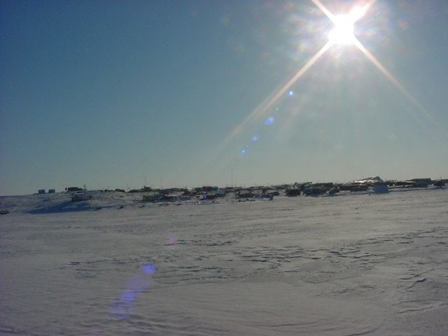 Another shot of Kugluktuk as seen from the ocean.