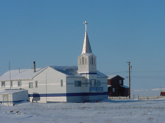 One of the two churches in town.
