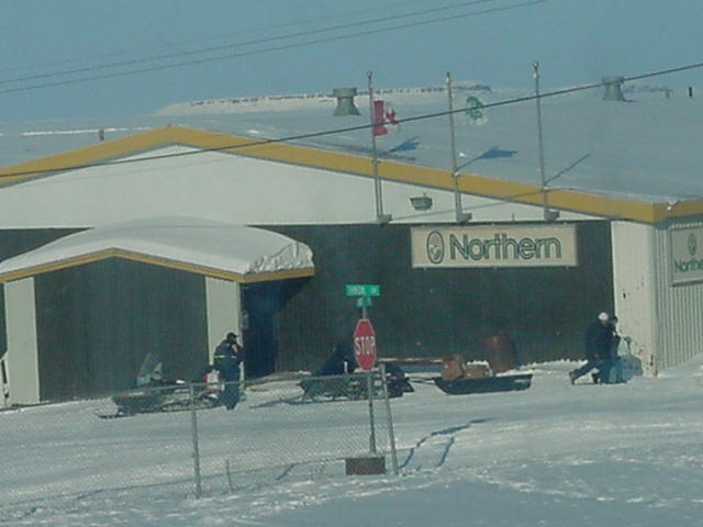 The supermarket in Kugluktuk as seen from the class room window.