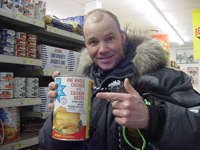 Of course, if you live in Kugluktuk, you eat chicken from a can!