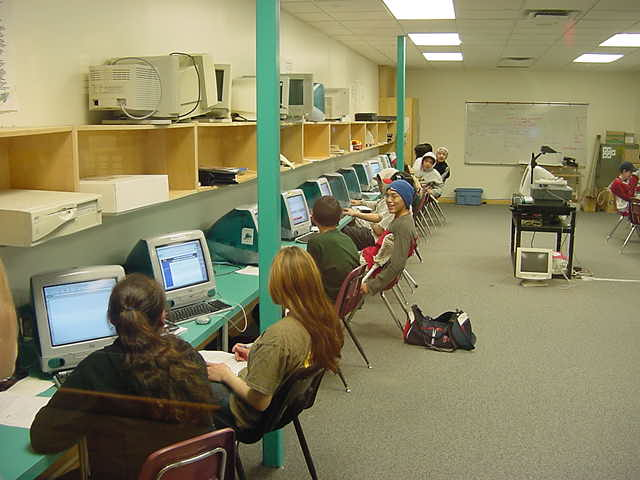 Lunch was followed by a computer class where the kids had to do research to medieval European castles.