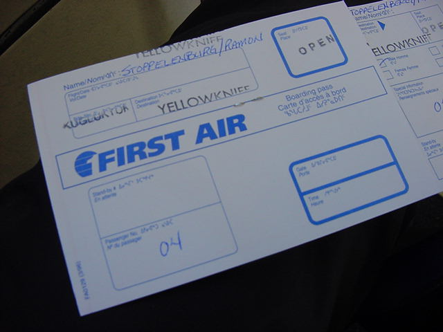 It was again, thanks to this free First Air flight ticket, that I could fly back to Yellowknife again.